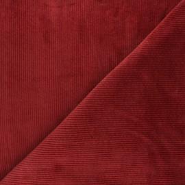 Tissu velours côtelé washé Cardiff - tomette x 10cm