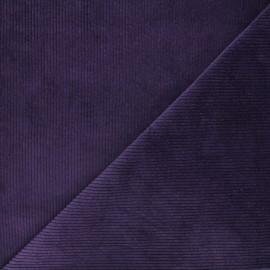 Tissu velours côtelé washé Cardiff - violet x 10cm