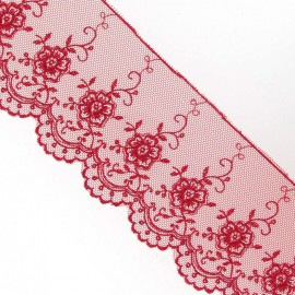 Valenciennes lace - red