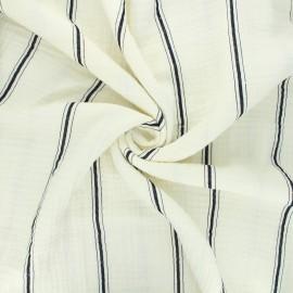 Double gauze fabric - black Cory x 10cm