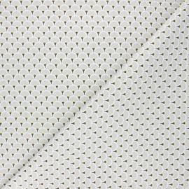 Cretonne cotton fabric - light grey Eventails dorés x 10cm
