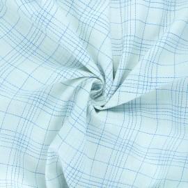 Poplin cotton fabric - blue Bozza x 10cm