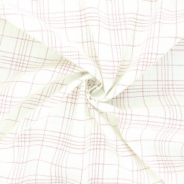 Poplin cotton fabric - red Bozza x 10cm