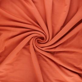 Tissu jersey bambou Alena - roux x 10cm