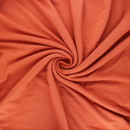 Plain jersey bamboo fabric - ginger Alena x 10cm