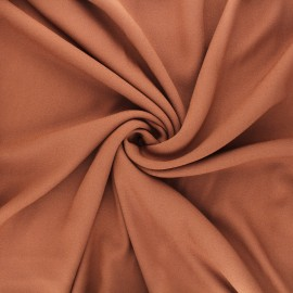 Tissu crêpe de viscose Vikki - cannelle x 10cm