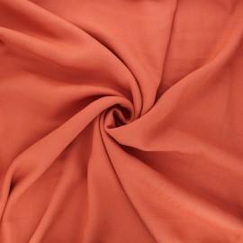 Tissu crêpe de viscose Vikki - roux x 10cm