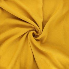Tissu crêpe de viscose Vikki - jaune moutarde x 10cm