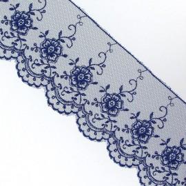 Valenciennes lace - navy blue