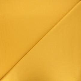 Plain gabardine bamboo fabric - yellow mustard x 10 cm