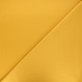 Tissu gabardine bambou uni - jaune moutarde x 10 cm
