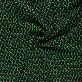 Viscose fabric - black Flamingo life x 10 cm