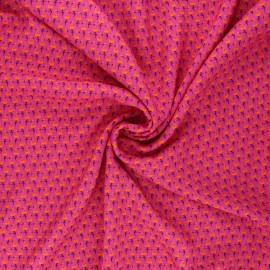 Viscose fabric - pink Flamingo life x 10 cm