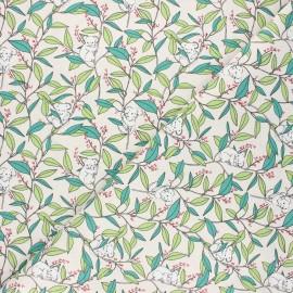 Cretonne cotton fabric - raw Koa'life x 10cm