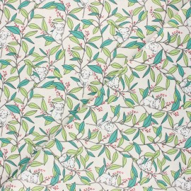 Tissu coton cretonne Koa'life - écru x 10cm