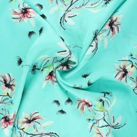 Viscose fabric - lagoon Teresita x 10 cm
