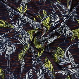 Tissu jersey viscose Garza - bleu nuit x 10 cm