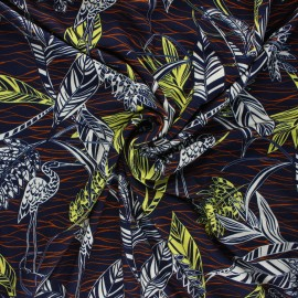 Viscose jersey fabric - night blue Garza x 10 cm