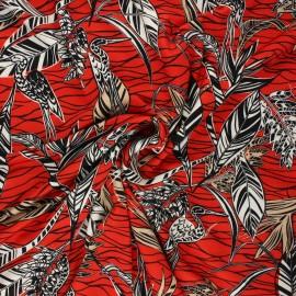 Tissu jersey viscose Garza - rouge x 10 cm