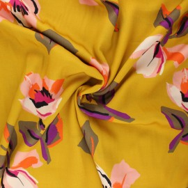 Viscose fabric - ochre Giulietta x 10 cm