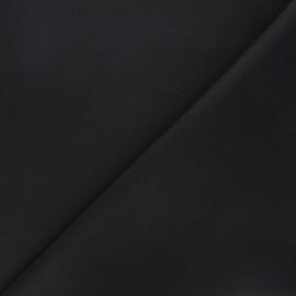 Tissu toile polyester imperméable souple Una - noir x 10cm