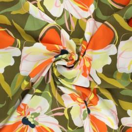 Viscose fabric - khaki Adalisa x 10 cm