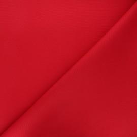 Tissu toile polyester imperméable souple Una - rouge x 10cm
