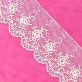 Valenciennes lace - white
