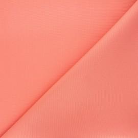 Tissu toile polyester imperméable souple Una - corail x 10cm
