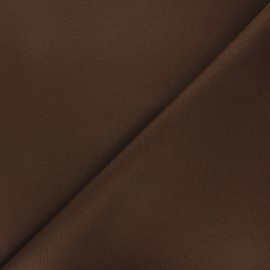 Tissu toile polyester imperméable souple Una - marron x 10cm