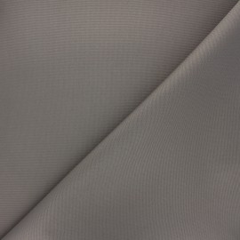 Tissu toile polyester imperméable souple Una - taupe x 10cm