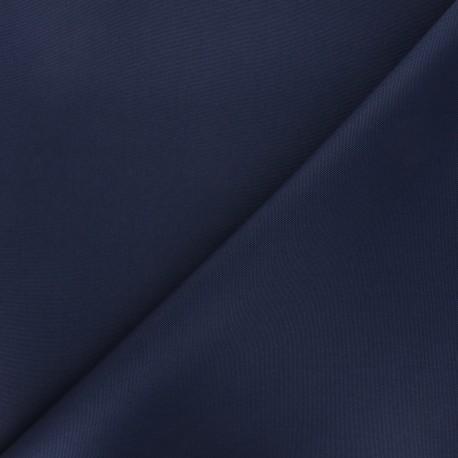 Tissu toile polyester imperméable souple Una - bleu marine x 10cm