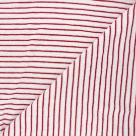 Tissu jersey velours éponge Morlaix - rouge x 10cm