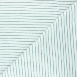Tissu jersey velours éponge Morlaix - vert sauge x 10cm