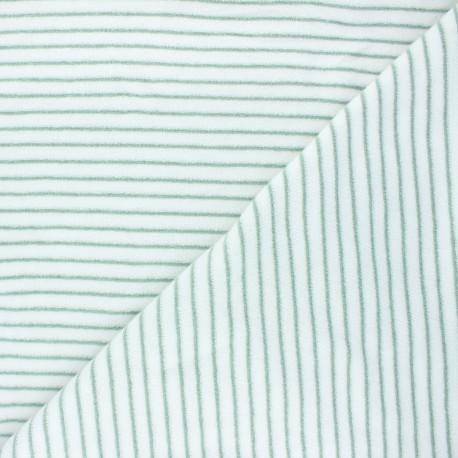 Terry-cloth jersey fabric - sage green Morlaix x 10cm