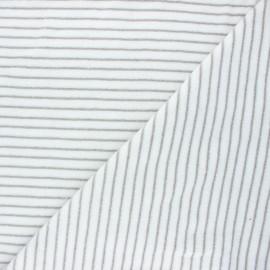 Terry-cloth jersey fabric - grey Morlaix x 10cm