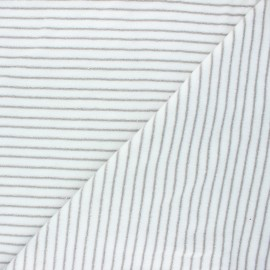 Tissu jersey velours éponge Morlaix - gris x 10cm