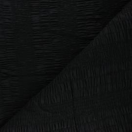 Tissu voile de coton smocké - noir x 10cm