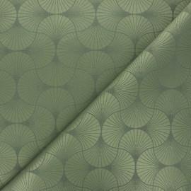Tissu jacquard Freda - vert kaki x 10cm