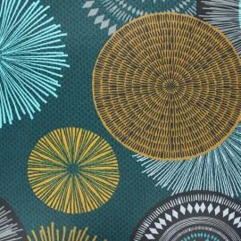 Tissu coton enduit Capacha - vert x 10cm