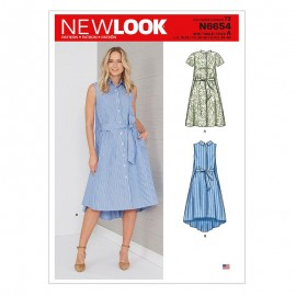 Shirt dress sewing Pattern for Woman - New Look 6654