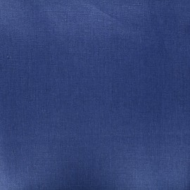 Coated washed linen fabric - navy blue x 10cm