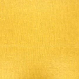Coated washed linen fabric - yellow mustard x 10cm