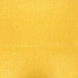 Tissu lin lavé enduit - jaune moutarde x 10cm