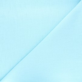 Plain linen fabric - ice blue Dolce x 10 cm