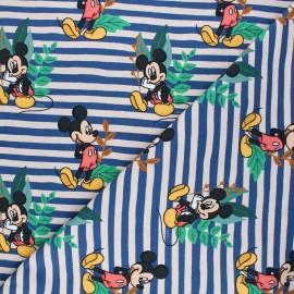 Tissu jersey Wild Mickey - bleu marine x 10cm