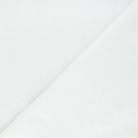 Tissu lin viscose brodé Serpente -blanc x 10 cm