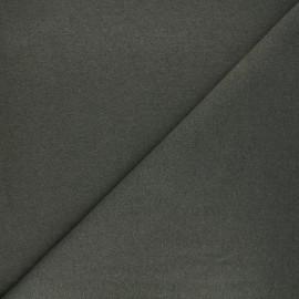 Tissu sweat léger recyclé - kaki x 10cm