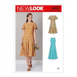 Flare fit dress sewing pattern for Woman - New Look 6652