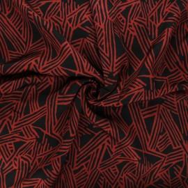 Tissu viscose satin Triangulo - rouge x 10cm